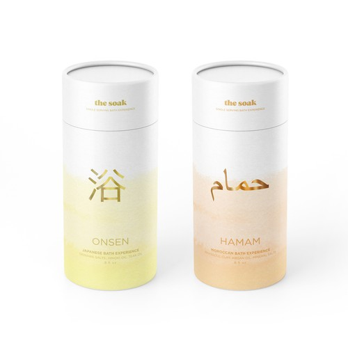 The soak. Bath experience packaging design