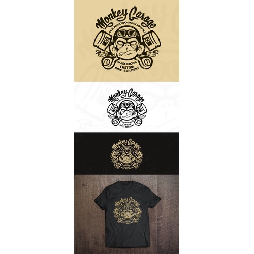 create a cool & nice, old school, crazy ape logo for our Monkey Garage