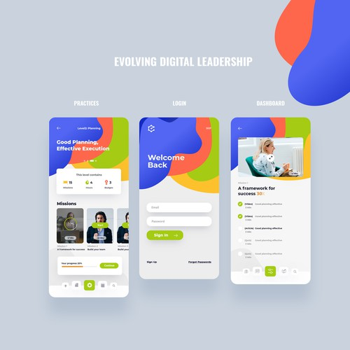 Digital Leadership iPhone App Design