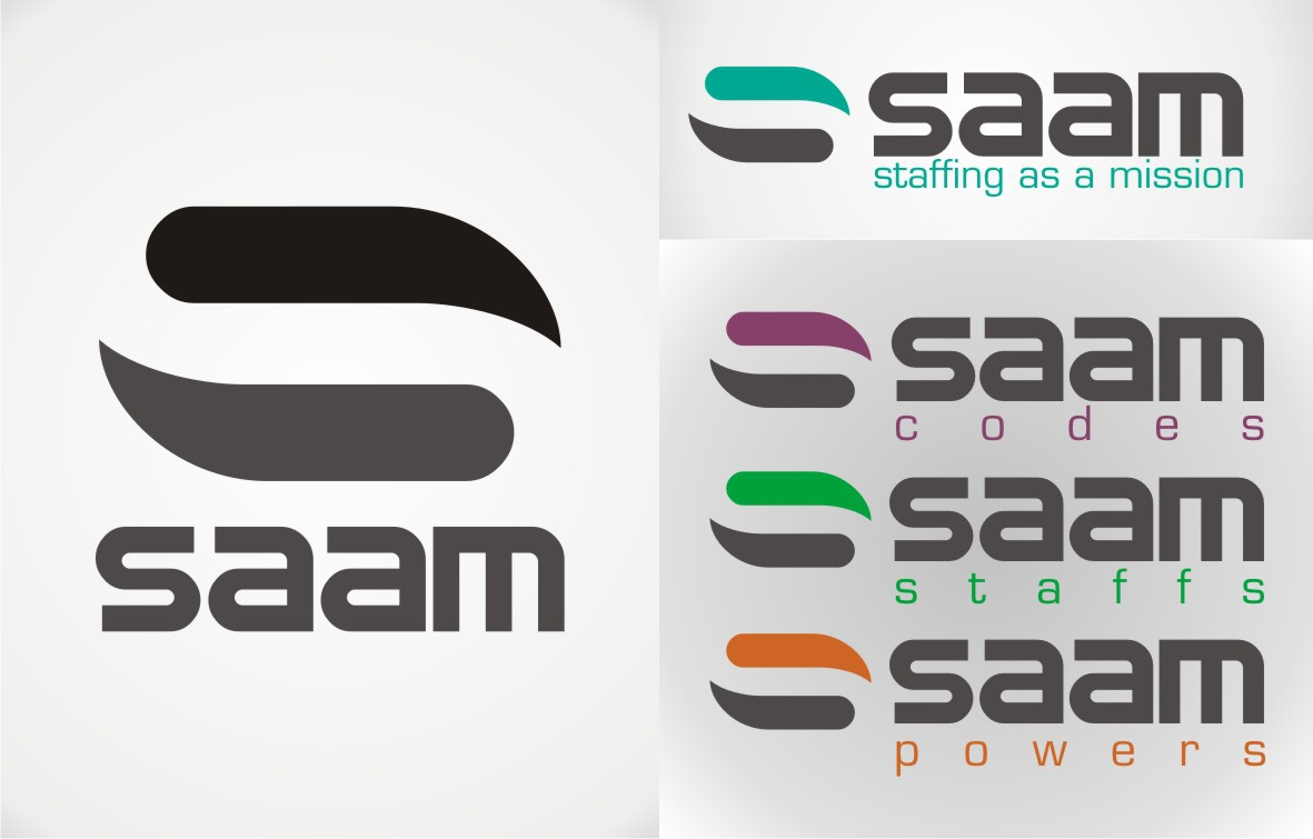 Create a logo for a new type of staffing company:  SAAM - staffing as a mission