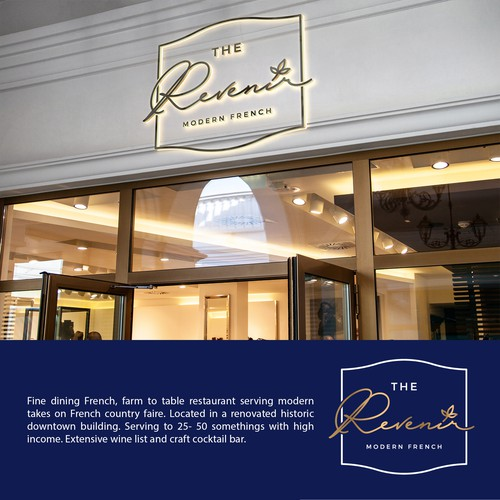 Modern Fine Dining Restaurant Logo