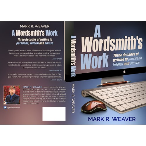 Book cover for an upcoming book on writing/being a wordsmith