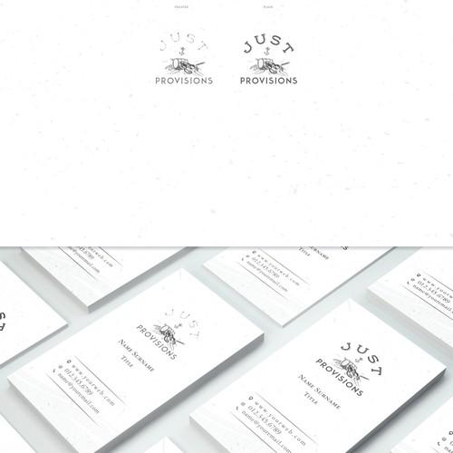 Yacht food provision company logo