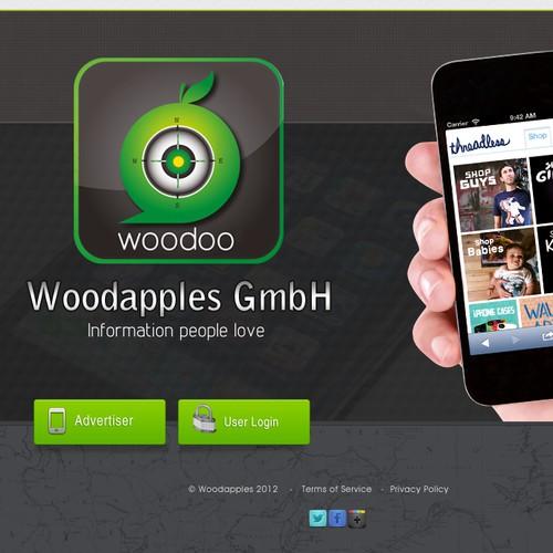 website design for Woodapples GmbH
