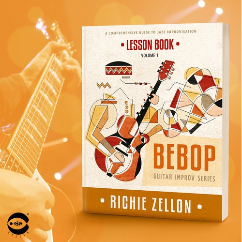 "Book cover for ""Bebop – Lesson Book"" by Richie Zellon"