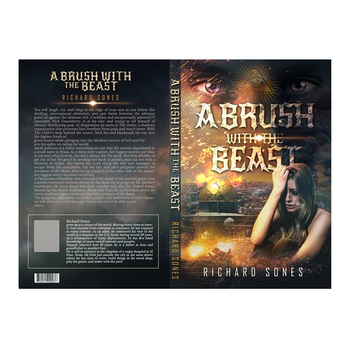 Design a book cover for an international thriller novel
