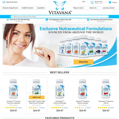 New Website for Ecommerce Supplement Store