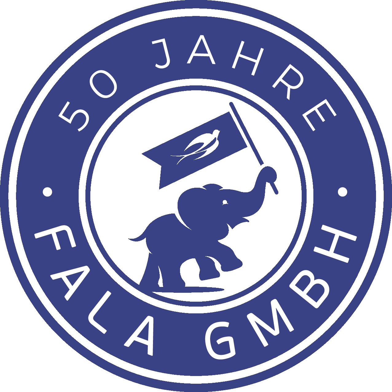 Ein kreatives Logodesign für 50 Jahre des Elefanten-Schwalbe Unternehmens