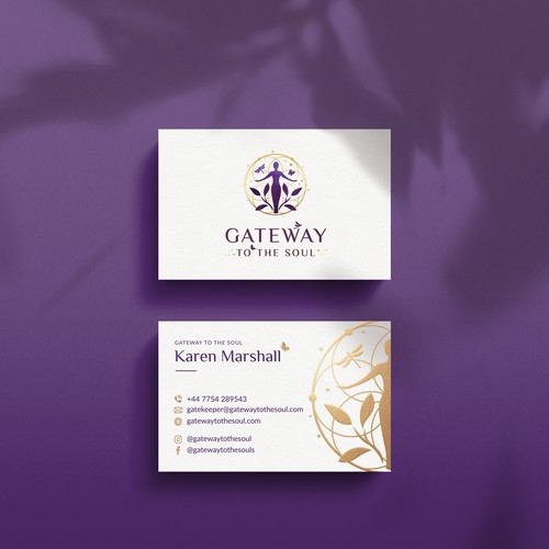 Business card design for Gateway to the soul
