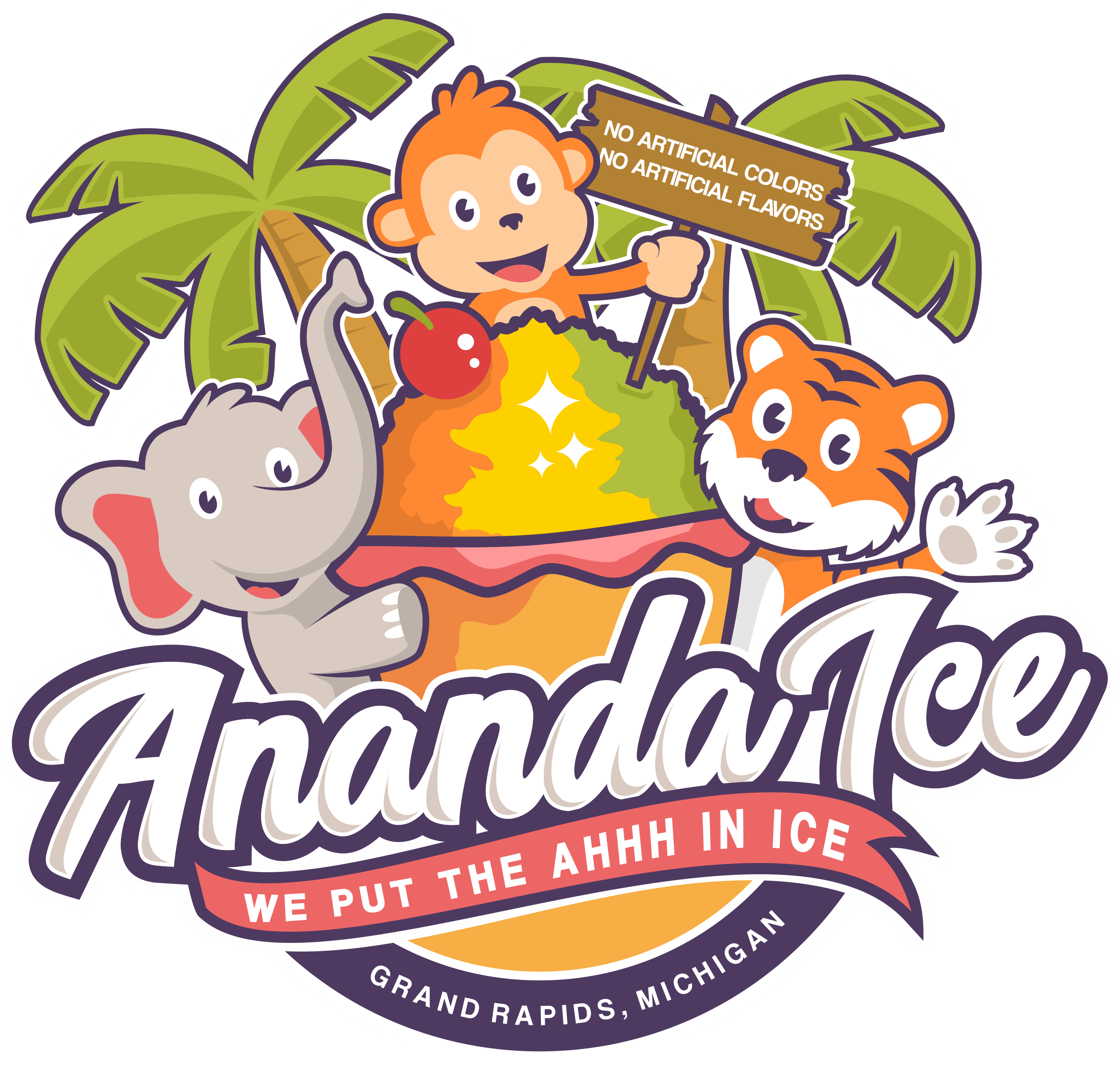 Design a fun and inviting logo for Ananda Ice - a Tropical Shaved Ice business