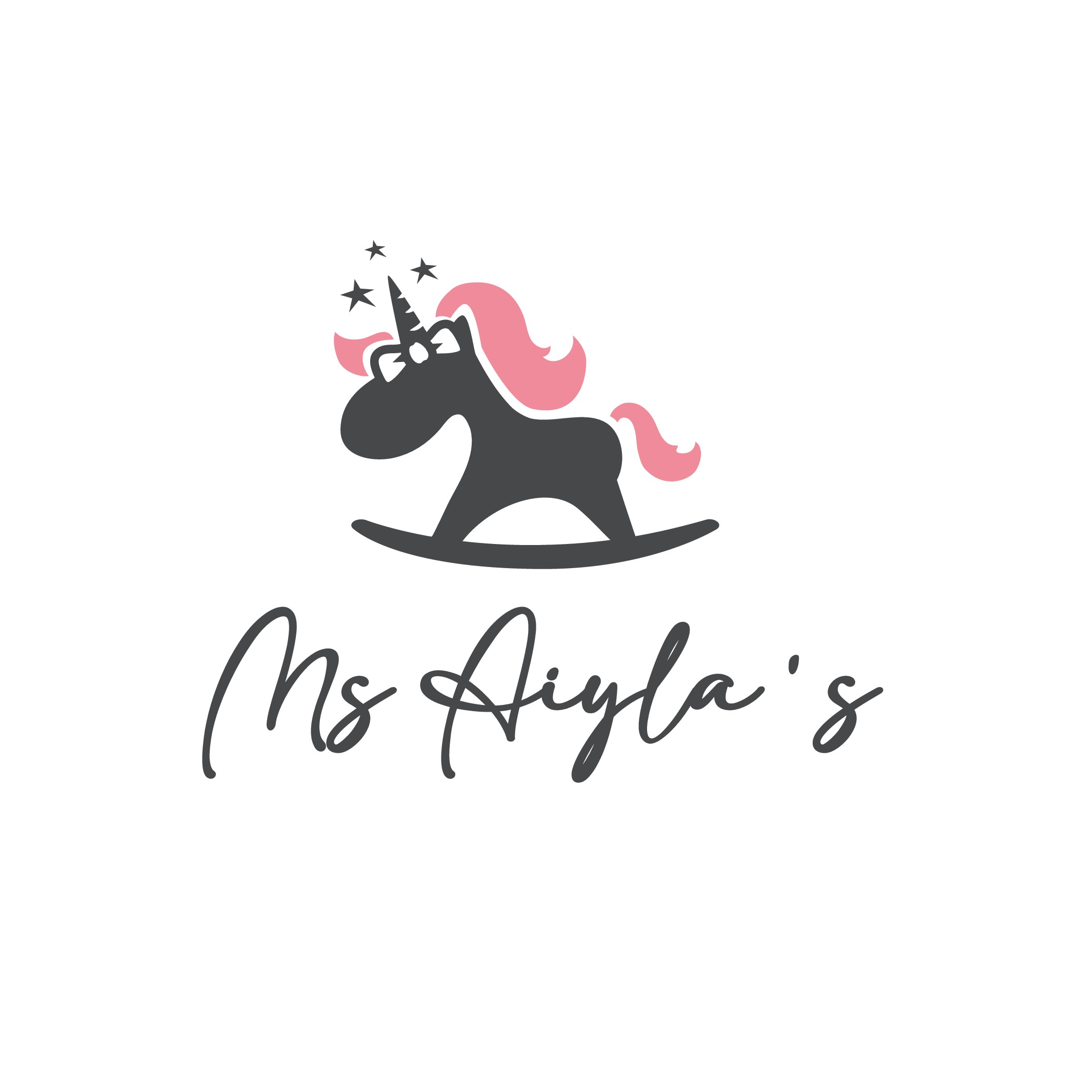 Modern but cute baby clothing store logo