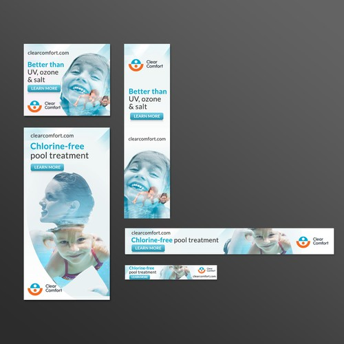 Banner design for Chlorine-free pool treatment