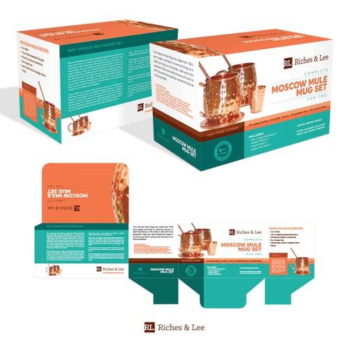 Moscow Mule Mug Set Packaging