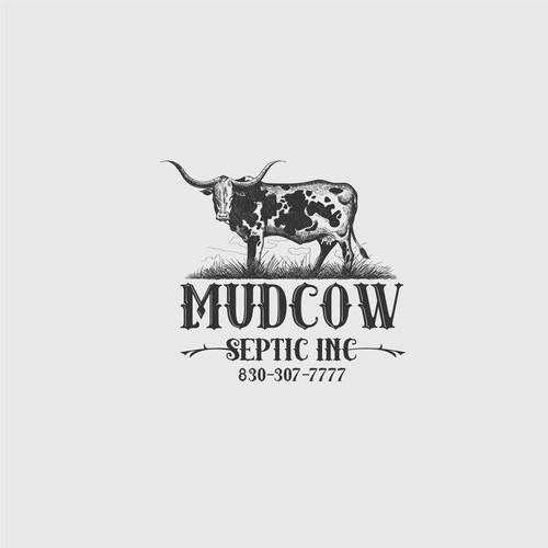 Handmade cow logo