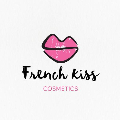 One line lip logo