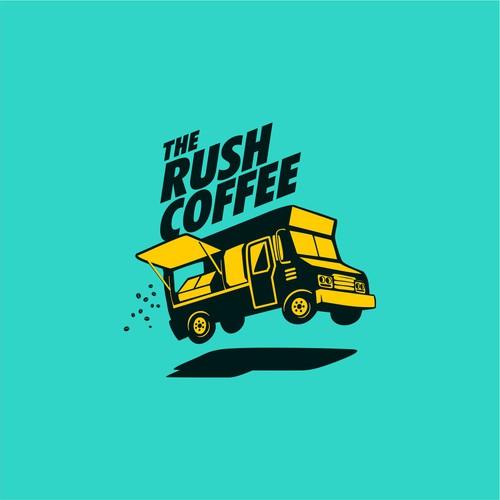 fun logo for The Rush Coffee foodtruck