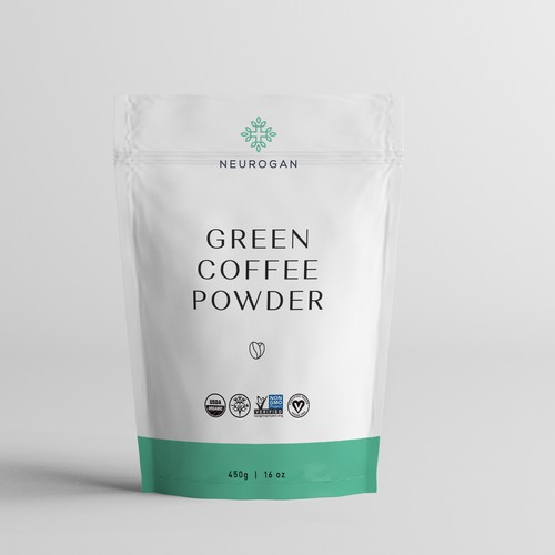 Green Coffee Powder Pack design