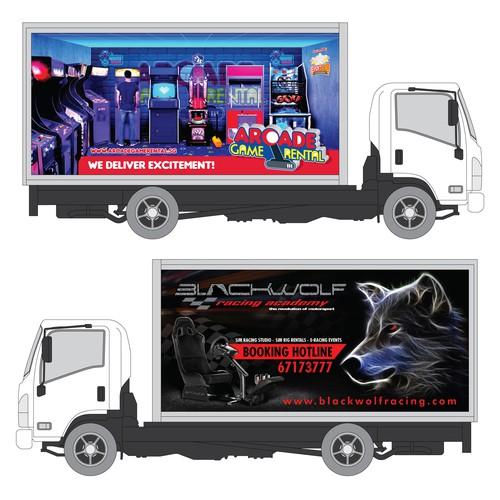Arcade Game Box Truck