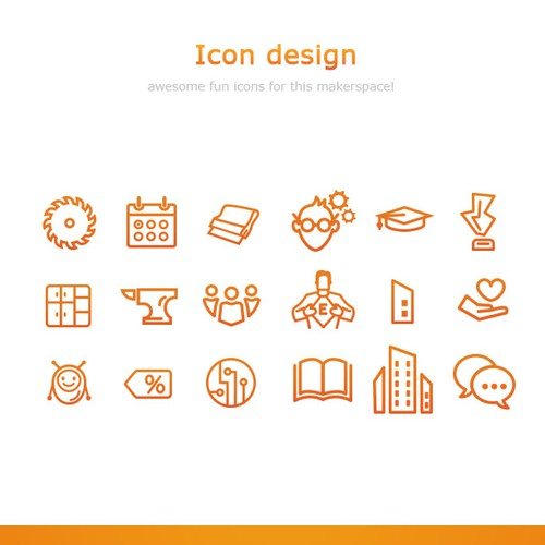 Icon design for awesome makerspace!
