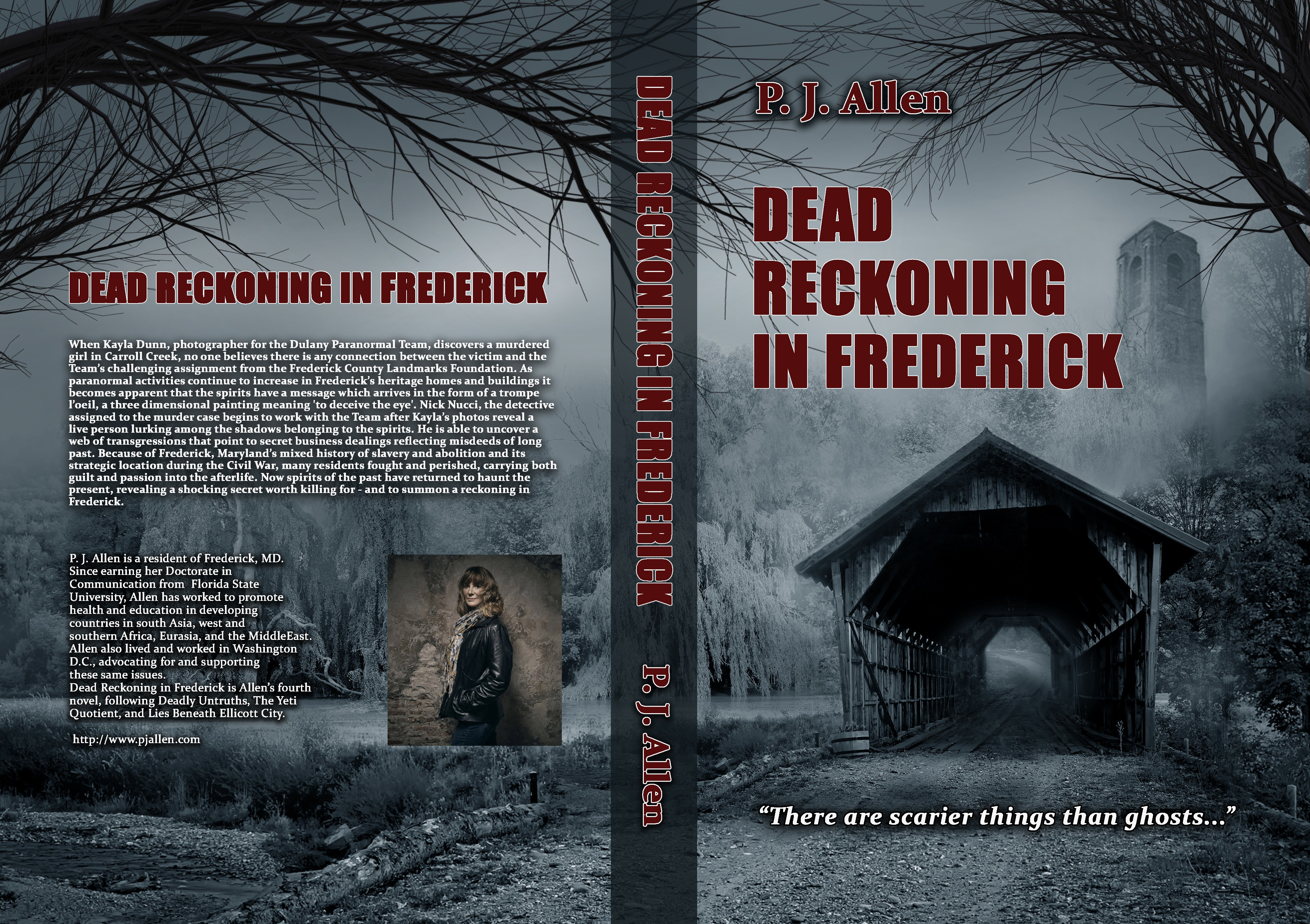 Book cover design for paranormal intriguing mystery in an historic town