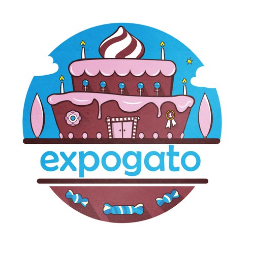 Create the logo for the 1st tradeshow in France for Cake Design: EXPOGATO