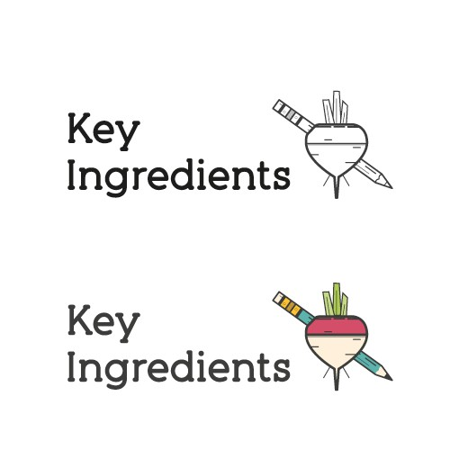 Create the brand identity for a BRAND NEW online television show called Key Ingredients!!