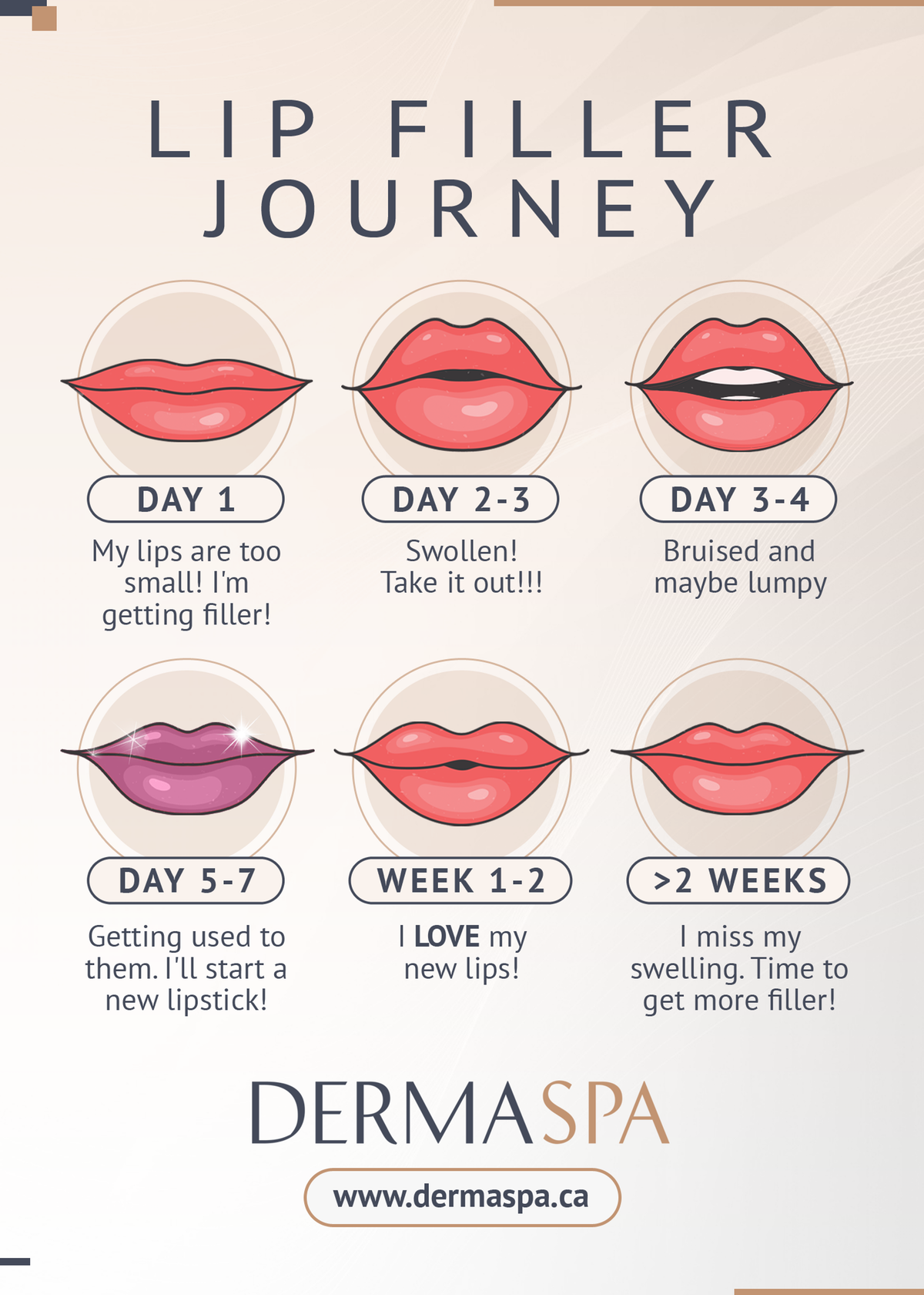 Simple infographic for Lip Treatment (sample to recreate included)
