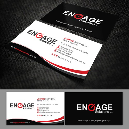 Business Card for Engage Solutions