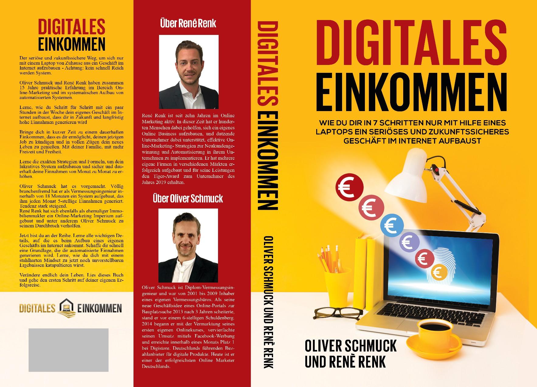Buchcover von 2 Online-Marekting Experten zum Thema Digitales Einkommen