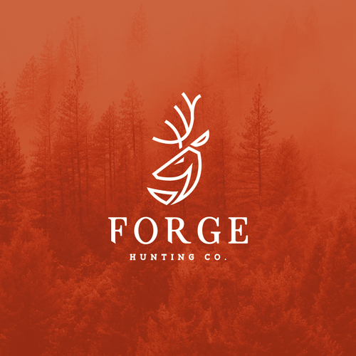 Masculine and mature logo design for a deer nutrition and hunting company.