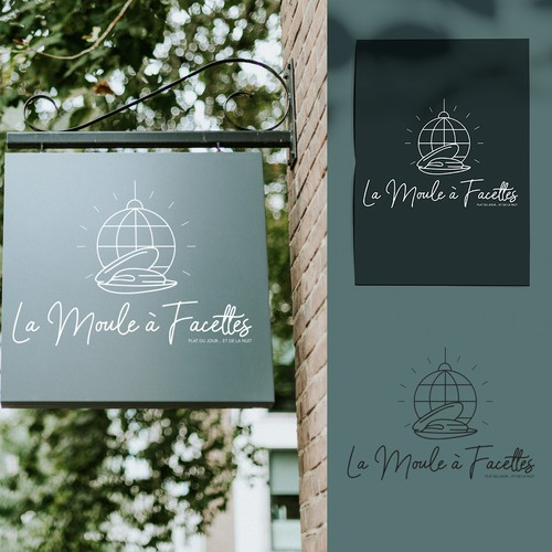 Logo concept for a seafood restaurant