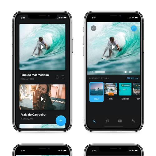 Music video app design