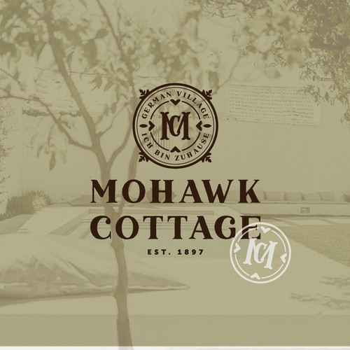 logo for a german village style cottage