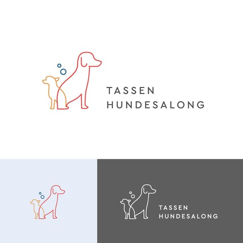 Minimalist Logo for a Dog Grooming Salon