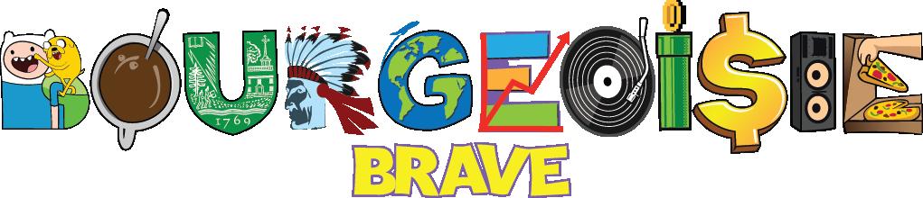 "logo for dj name ""Bourgeoisie Brave"""