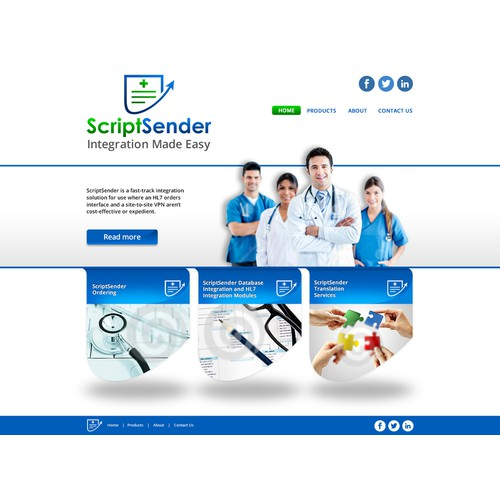 Design a web site for a medical software company.