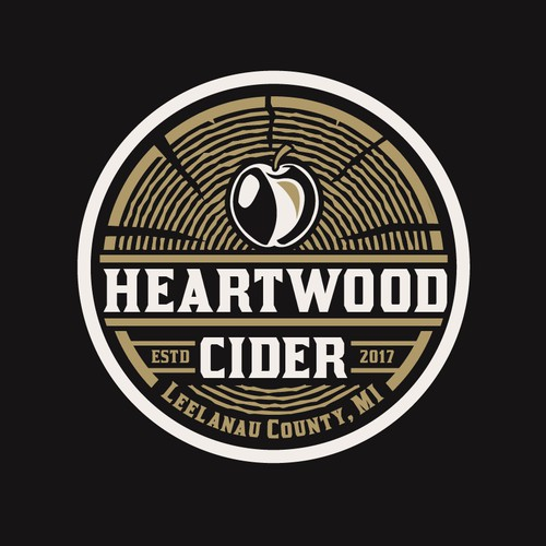 Apple cider production logo