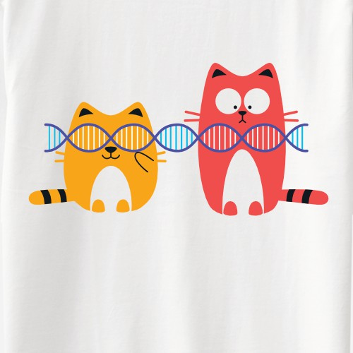 Cats Playing With DNA T-Shirt