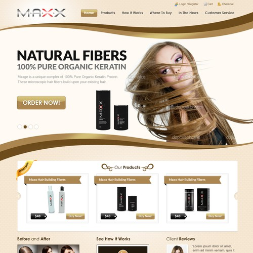 Help Maxx Boutique is company name - website is www.livetothemaxx.com with a new website design