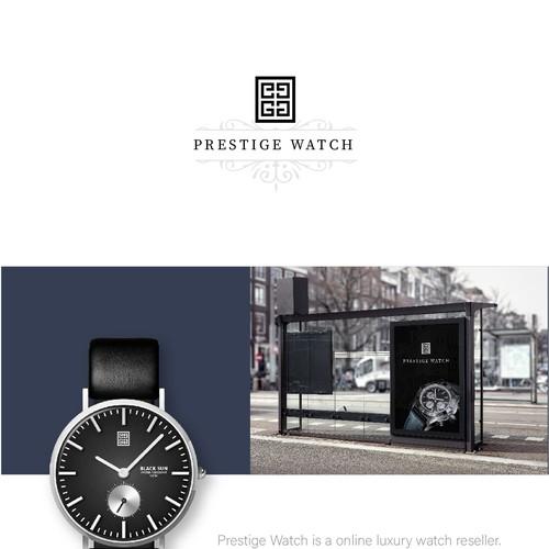 Monogram logo concept for Prestige Watch