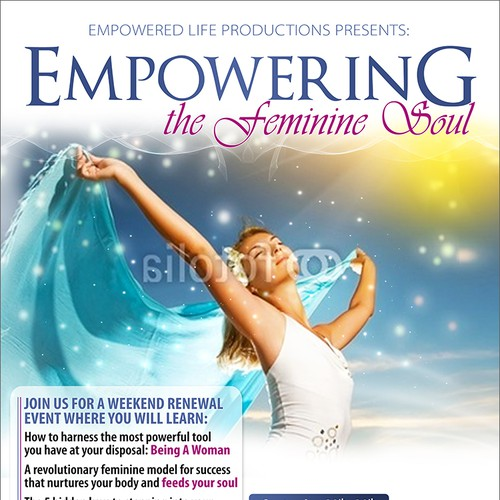 New postcard or flyer wanted for Empowering the Feminine Soul