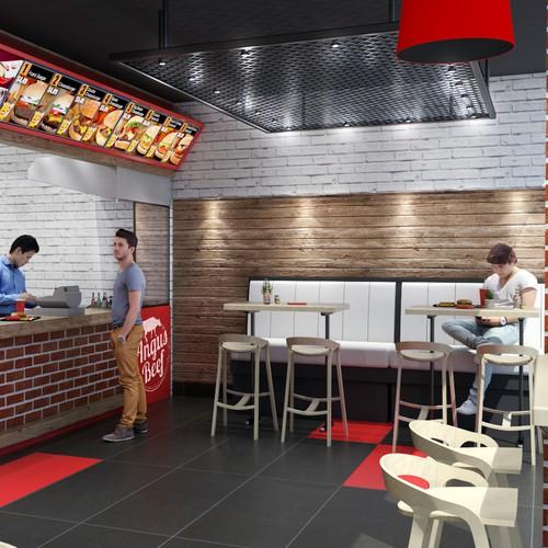 Fast food interior design