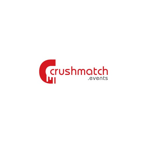 Create a logo for CrushMatch.events, the parties' dating mobile app
