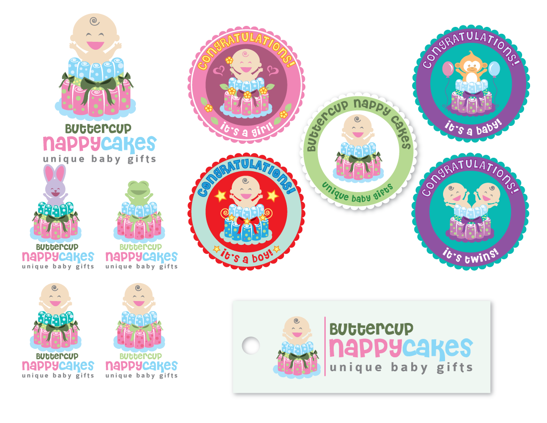logo for buttercup nappy cakes