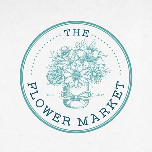 the flower market logo proposal