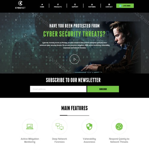 Security and Hacking Website Design