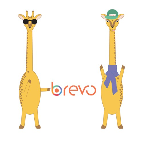 Create a giraffe mascot for a new social startup!