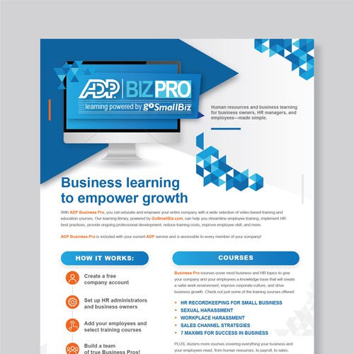 ADP Business Pro Flyer
