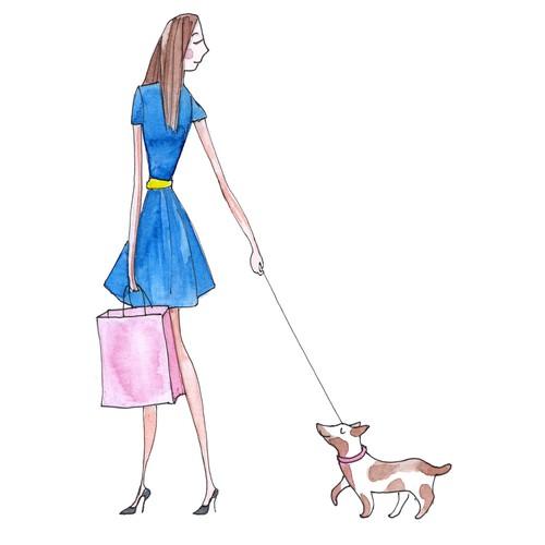 Fashion label illustration