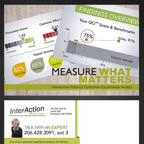 Create a Postcard that Makes CEOs and Customer Service Directors Want to Find Out More!